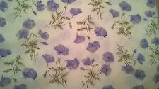 "3.5 Metre Length Cream/Lilac coloured Flower Print Fabric 45"" wide polycotton"