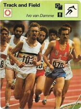 1977 Sportscaster Card Track and Field Ivo Van Damme # 11-22 NRMINT.