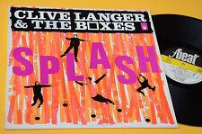 CLIVE LANGER & THE BOXES LP SPLASH 1°ST ORIG ITALY 1980 EX+