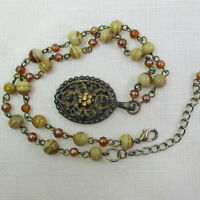 BOHEMIAN Artisan Necklace with Hand Crafted Glass Beads & Custom Pendant