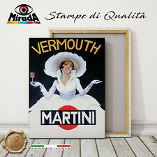 QUADRO vintage Vermouth Martini STAMPA TELA CANVAS bar aperitivo Spritz Cocktail