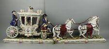 "Huge 36"" Antique Dresden Volkstedt figurine ""Carriage"""