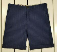 New Conte of Florence Men's Shorts Size L Blue Bermuda Pants Stripped