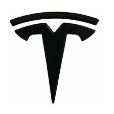 3D Glossy Black Tesla Logo Trunk Lid ABS Rear Emblem Sticker for Model 3
