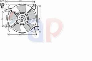 ELETTROVENTOLA RADIATORE COMPLETA PER CHEVROLET MATIZ 0.8 52 CV