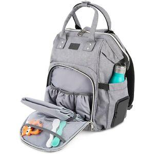Baby Change Bag - Diaper Changing Backpack - Light Grey