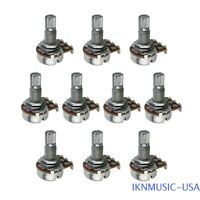Pack of 10Pcs B500K Potentiometers Long Split Shaft Small Size Guitar Pots