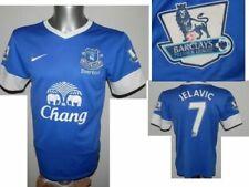 2012-13 Everton Jelavic #7 Home Football Shirt Jersey Premier League patches - S