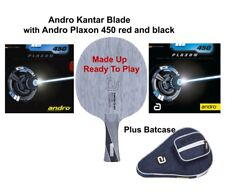 Table Tennis Bat: Andro Kantar CO Blade with Andro Plaxon 450 Rubbers + Case
