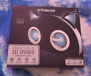 Polaroid Wireless LED Cat Speaker Bluetooth Black New
