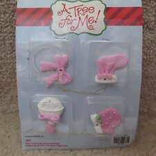 A Tree for Me! Ornaments - Small Pink Baby Themed - 4 pcs..