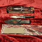 RARE/VINTAGE KIT RAE UC726 'BIRD OF PREY' STAR TREK KLINGON KNIFE W/SHEATH-LNIB