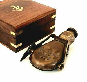 Lot Of 5 Pic Antique Vintage Brass Monocular Binocular Marine CS London Engraved