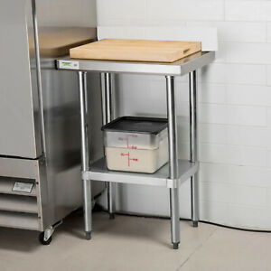 2 TIER COMMERCIAL STAINLESS STEEL CATERING PREP TABLE WORK BENCH WORKTOP KITCHEN