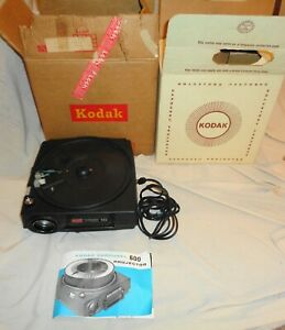 Vintage Eastman Kodak Model 600 slide projector original box & Manual Works !!!!
