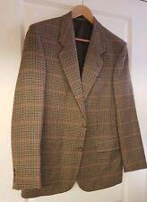 KINDLER Men's brown mix 100% wool Tweed look smart business Jacket Blazer 38R