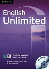 English Unlimited Pre-Intermediate Self-Study Pack (Workbook with DVD-ROM) (Mixe