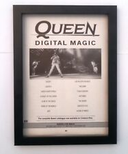 QUEEN Digital Magic 1986 *ORIGINAL*ADVERT *FRAMED*
