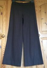 Women's Kaliko brown & white polka dot virgin wool mix trousers wide 10 Leg 30