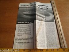 1960 Aurora Submarine Skipjack 711 Model Kit Instructions ONLY!