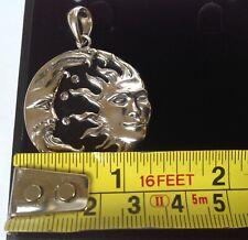 Balance & Harmony Celestial Solar Luna Sun & Moon face Sterling Silver Pendant