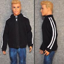 Barbie Doll Fashion Clothes Black Coat Sports Jacket For KEN Dolls