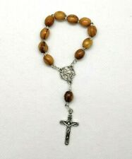 Hand made Olive Wood Car Rosary beads.Can be used as a mini single decade rosary