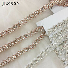 Thin Rhinestone Crystal Appique Trim For Wedding Belt Bridesmaid Bridal Sash