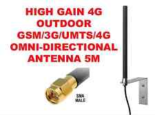 OUTDOOR HIGH GAIN 7dBi OMNI DIRECTIONAL GSM/3G/UMTS/4G WITH 5M CABLE