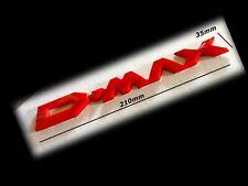 1 x 3D ISUZU 'D-MAX' Dark Red badge 210 x 35mm 4x4 new