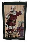 The Olde Greensborough Jacquard Loomed Tapestry 17.25 x 28 Santa Coca Cola