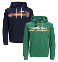 JACK & JONES Original Mens Logo Overhead Hoodie Sporty Hooded Sweatshirt Top