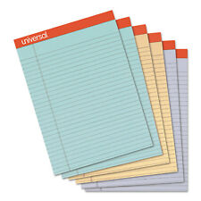 Universal Fashion Colored Perforated Ruled Writing Pads Wide 8 1/2x11 3/4 50