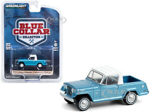 1970 JEEP JEEPSTER COMMANDO PICKUP TRUCK BLUE 1/64 DIECAST BY GREENLIGHT 35180 B