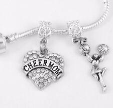 Cheer Mom charm set Huge sale cheering mother charms cheerleader mommy set of 2