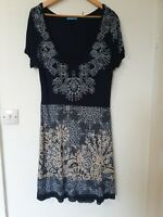 Joe Browns Floral Print Crochet Hem Stretch Dress Size 18