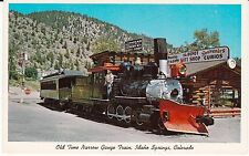 "Idaho Springs CO  ""Old Tme Narrow Gauge Train""  Postcard  Colorado *FREE US SHIP"