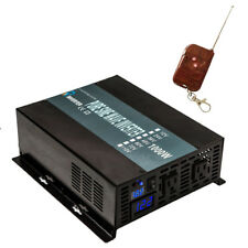 Power Inverter 1000W 12V DC to 120V AC Pure Sine Wave Inverter Remote Control