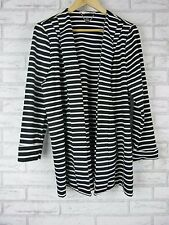 W. LANE Shrug Jacket Sz 12 Black and White Stripe Exposed Zip Casual, Everyday