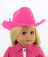 """Doll Clothes AG 18"""" Western Cowgirl Hat Hot Pink Fits American Girl Dolls"""