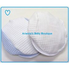 NEW Boys White / Blue Waffle Cotton Flat Cap Hat - SUMMER Made in UK 6-24 MONTHS