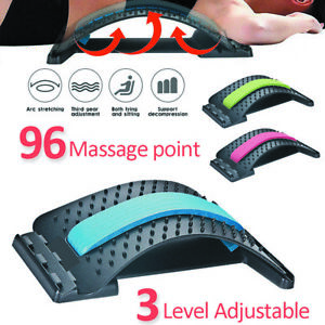 Back Massager Magic Stretcher Fitness Lumbar Waist Spine Pain Relief Support AU