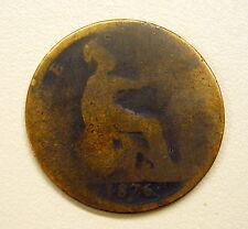 1876 H English Penny