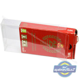 Wii Game BOX PROTECTOR for Mario All Stars 25th Anniversary PLASTIC DISPLAY CASE