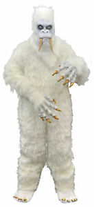 Yeti Costume Adult Bigfoot Hairy Beast Monster White Halloween