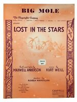 Trouble Man Kurt Weill 1949 Vintage Sheet Music Lost in the Stars