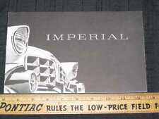 1956 Chrysler Imperial Catalog Sales Brochure