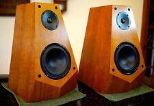 Sony SS M3 Speakers Polygon Cherry Veneer audiophile working REFURB see video