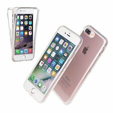 Front and Back Clear Full Protection TPU Gel Skin Case  For iPhone 8 PLUS