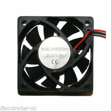 12 VOLT COOLING FAN 60mm x 60mm x 15mm FOR LIGHTING EFFECTS, AMPLIFIER etc